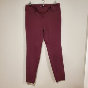 The Limited Exact Stretch maroon pants 8 long